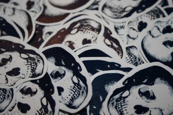 2010 first screen printed stickers
