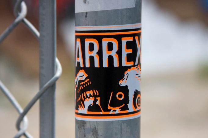 RX Skull stickers in Oakland, Ca